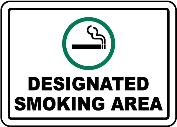 designated smoking area sign j2597  by safetysign com