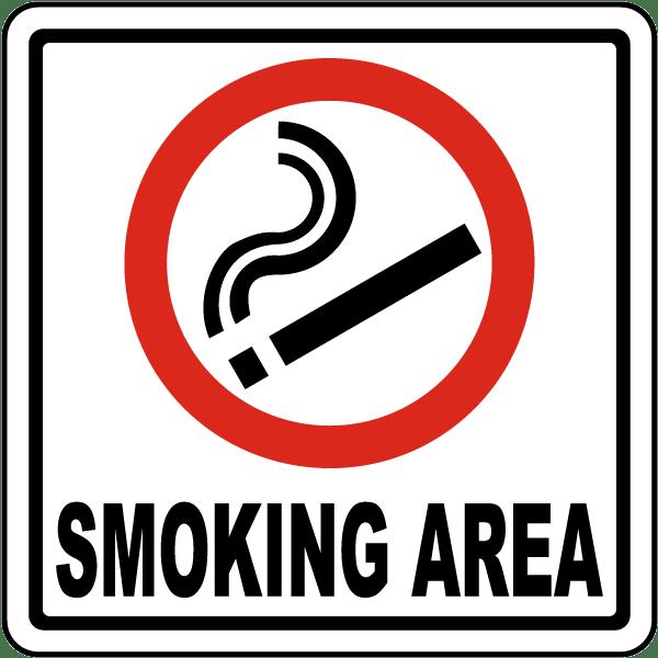 smoking area sign j3725 by safetysigncom