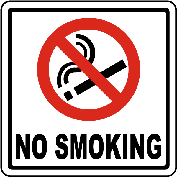 No Smoking Symbol Sign By Safetysign