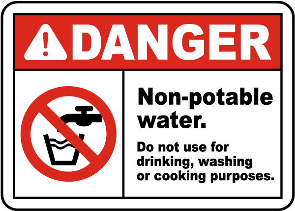 Non Potable Water Do Not Use Sign J4471 By Safetysign Com