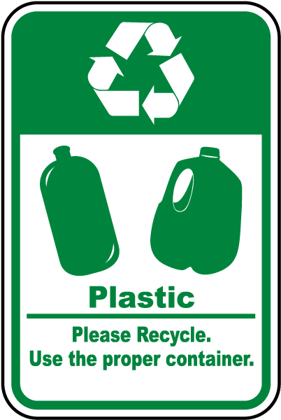 plastic recycle sign j4506 -safetysign