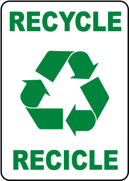 bilingual recycle label j4508 l by safetysign com