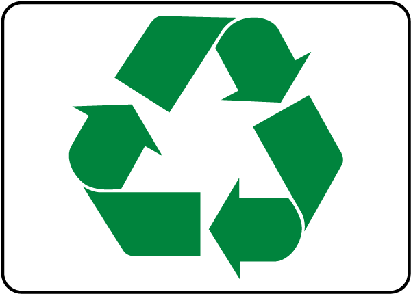 Recycle Symbol Sign J4515 By Safetysign