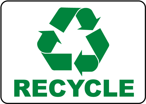 recycle sign j4516 by safetysign com
