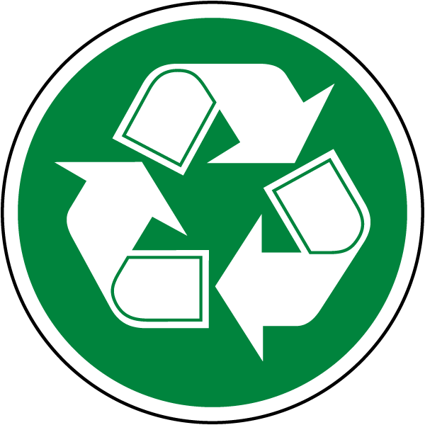 Circle Recycle Symbol Label By Safetysign Com J4529
