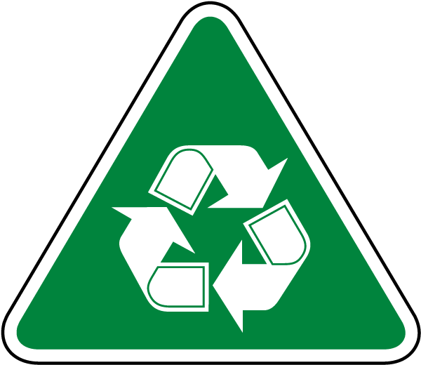 Recycle Symbol Label J4530 By Safetysign