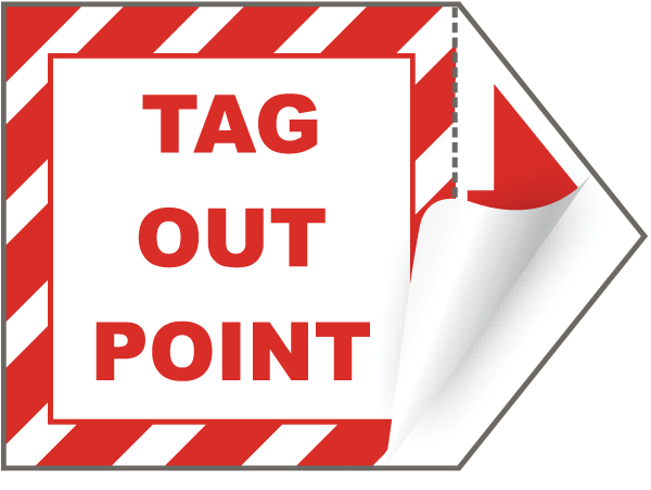 tag out point arrow label j5125 by safetysign com