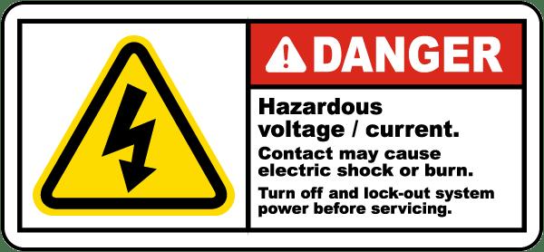 Danger Hazardous Voltage Label By Safetysign Com J5302
