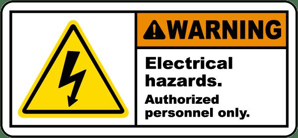 Electrical Hazards Authorized Label