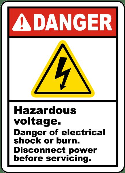 Hazardous Voltage Disconnect Label J5350 By Safetysign Com
