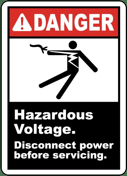 Danger Hazardous Voltage Label By Safetysign Com J5354