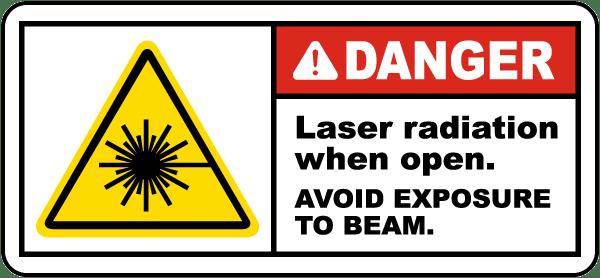 Laser Beam Safety Sign