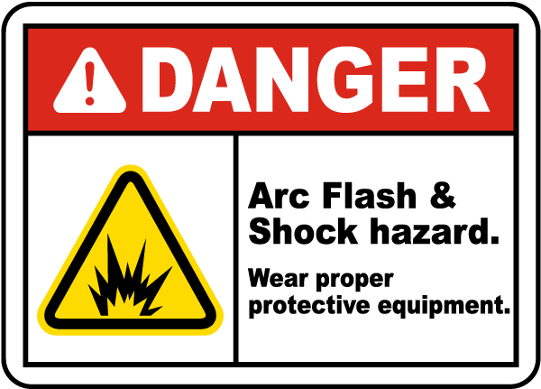 "/""Arc Flash Hazard/"" CUSTOM Arc Flash Safety Warning Label  Vinyl Sticker"