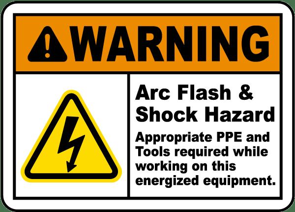 Warning Arc Flash Amp Shock Hazard Label J5534 By
