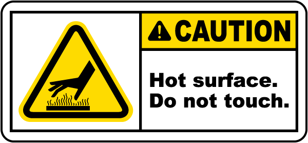 Caution Hot Surface Label - J6109. Hot Surface Labels by SafetySign ...