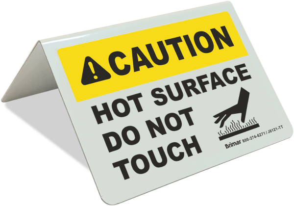 Caution Hot Surface Sign - J6121. Hot Surface Labels by SafetySign.com ...