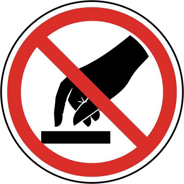 do not touch label by safetysigncom j6515