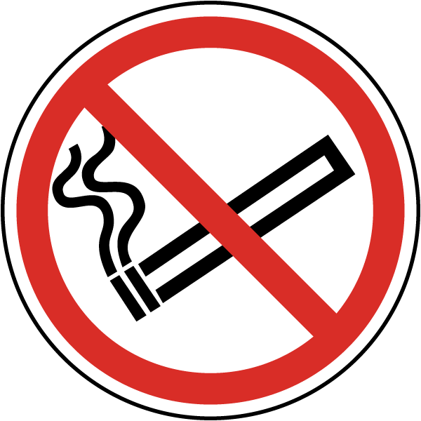 No Smoking Symbol Label J6516 By Safetysign