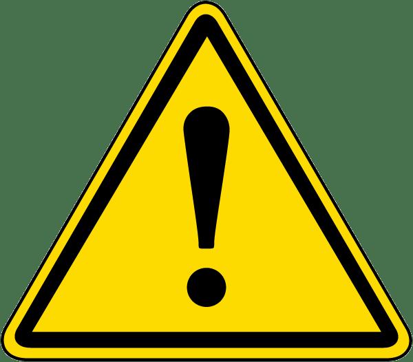 general warning symbol label by safetysigncom j6520