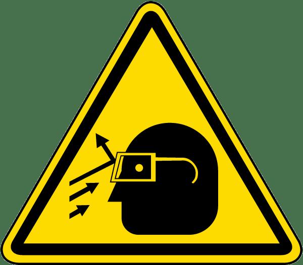flying debris warning label j6532 by safetysigncom