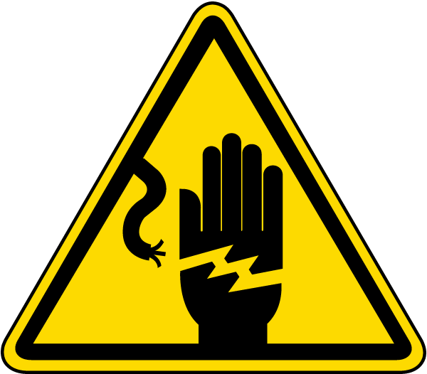 Electrical Shock Warning Label J6533 By Safetysign