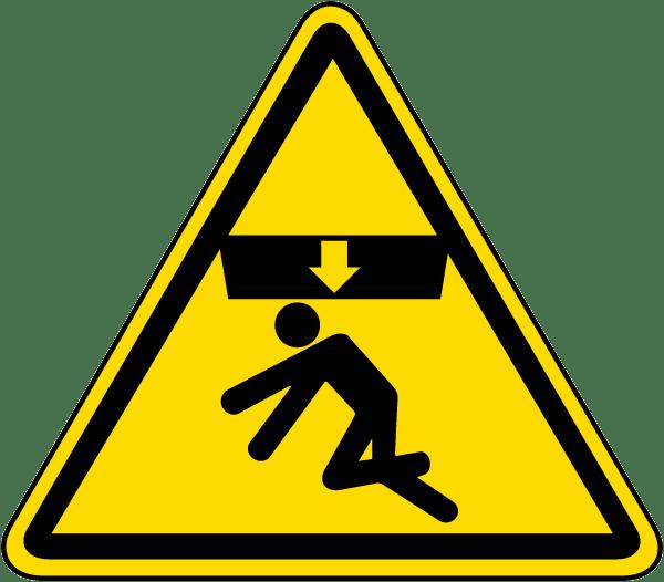Body Crush Warning Label J6535 By Safetysign Com