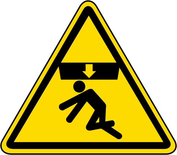 Body Crush Warning Label J6535 By Safetysign