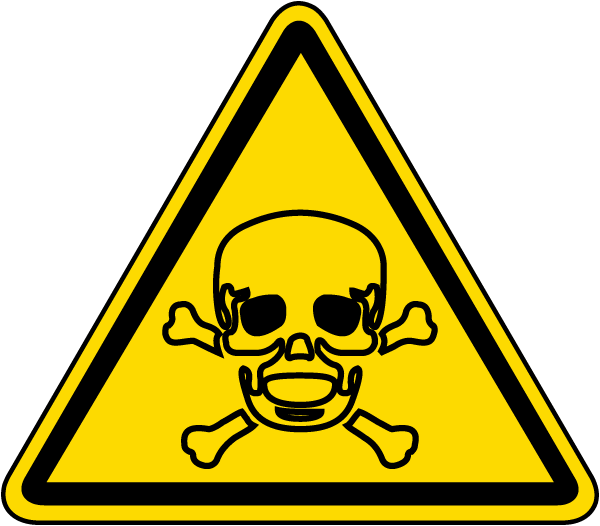 Toxic Hazard Label by SafetySign.com - J6541