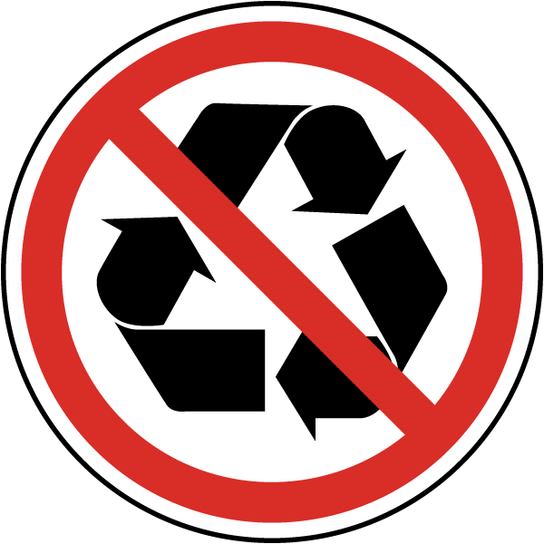 Not Recyclable Label J6551 By Safetysign