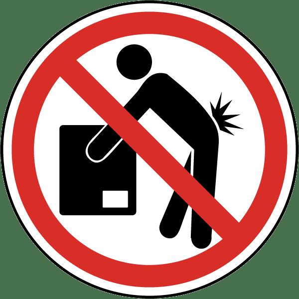 Do Not Lift Label