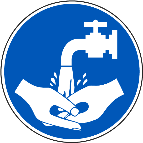 Wash hands symbol sign j6573 hand washing signs by safetysign com