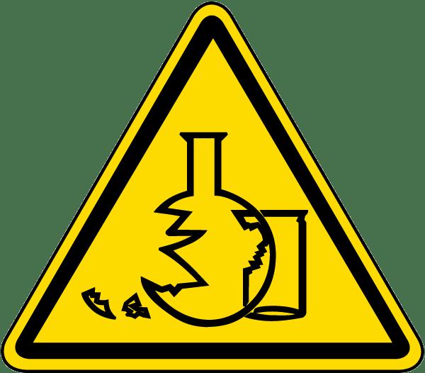Glass Hazard Label J6587 By Safetysign