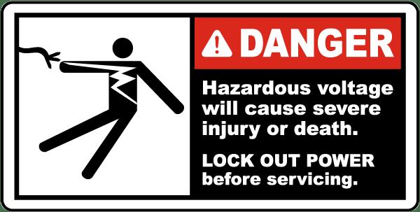 Hazardous Voltage Lock Out Label J6600 By Safetysign Com