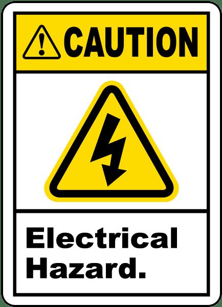 Caution Electrical Hazard Label