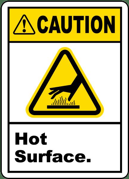 Caution Hot Surface Label