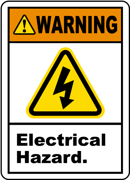 Warning Electrical Hazard