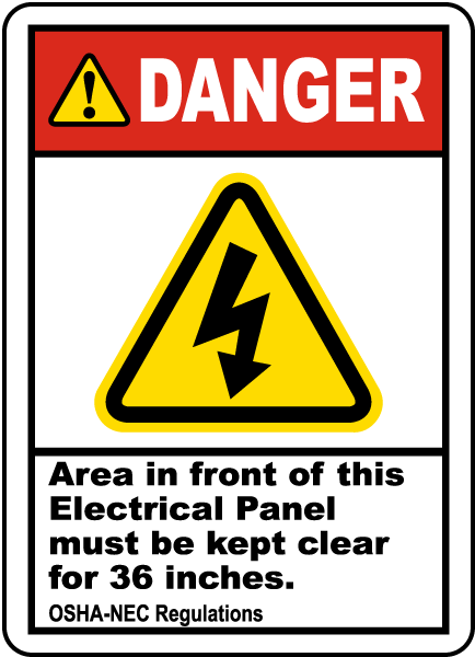 Must Be Kept Clear For 36 Inches Label J6740 - by SafetySign.com