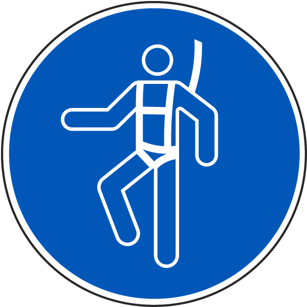 A Safety Harness Label J6800 - by SafetySign.com