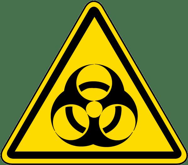 Biological Hazard Warning Label J6805 By Safetysign