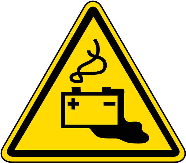 Battery Charging Warning Label J6808 By Safetysign