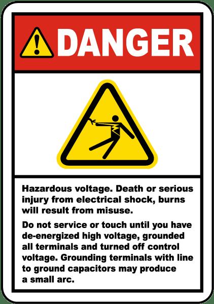 Danger Hazardous Voltage Label By Safetysign Com J6841