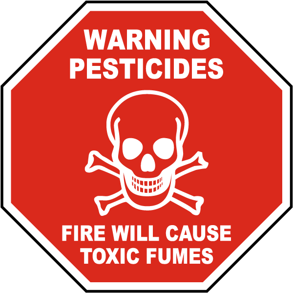 Warning Pesticides Sign By Safetysign Com K2302