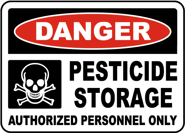 Pesticide storage authorized only sign k2326 by safetysign pesticide storage authorized only sign publicscrutiny Image collections