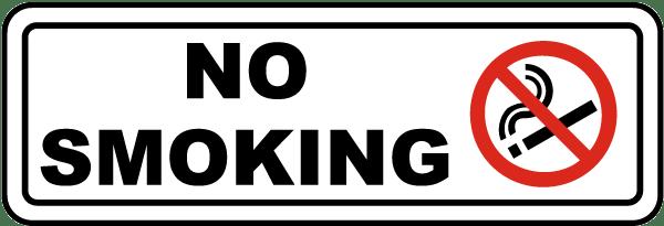 Item k2490 label reads no smoking label design international no smoking symbol compliance