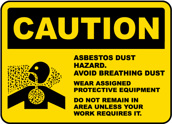 how to clean household asbestos dust