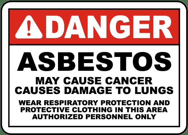 OSHA Compliant Asbestos Sign