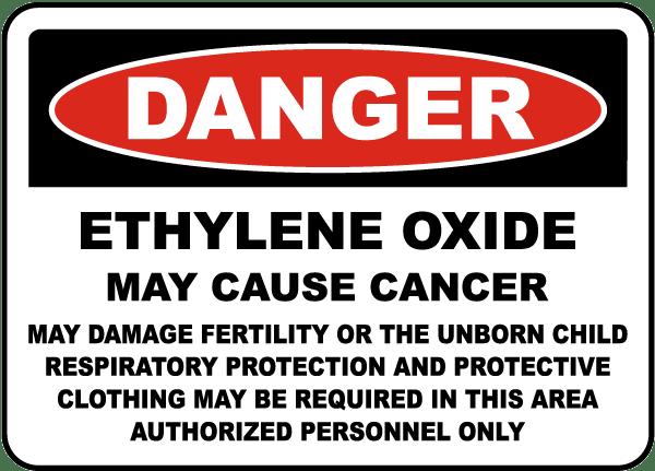 Osha Ethylene Oxide May Cause Cancer Sign K3672 By Safetysign