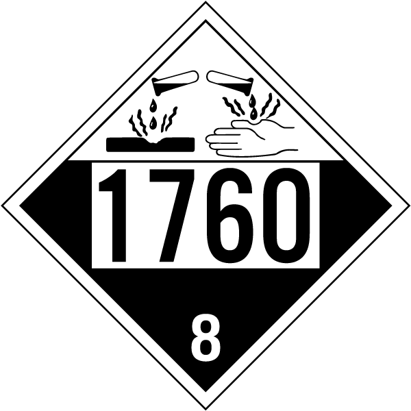 Un 1760 Class 8 Corrosive Placard K5612 By Safetysign