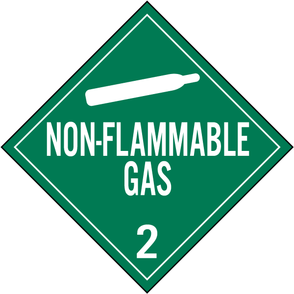 non-flammable gas class 2 placard k5624 -safetysign