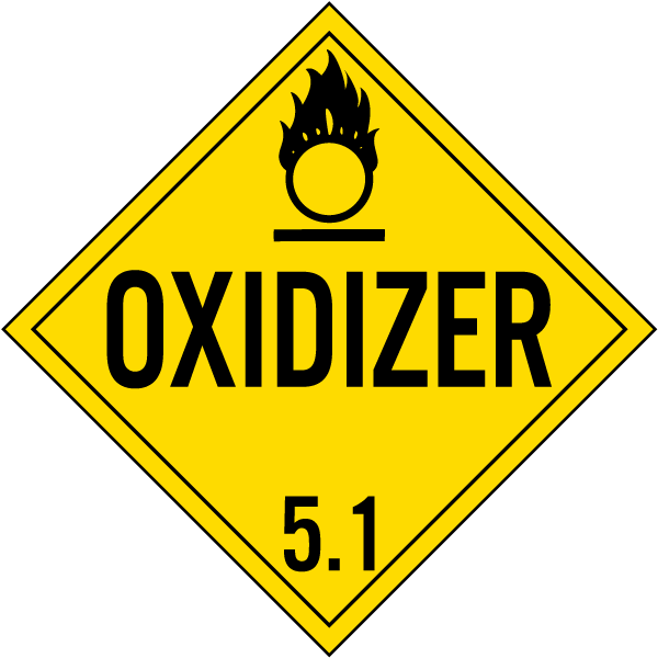 Oxidizer Class 5 1 Placard K5629 By Safetysign Com